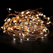 10M  Party Wedding String Light 12V Power Source  Warm White Copper Light Remote