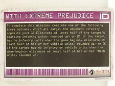 MechWarrior Firepower carta-m-003 with Extreme Prejudice