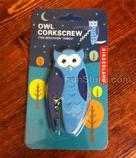 Owl Corkscrew - Bottle Opener - Wine Gift - Fun and Unique - Kikkerland - New