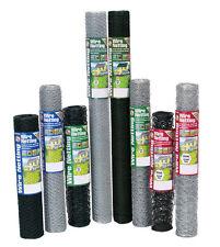 Gardman Metal Wire Netting - Galvanised & Green PVC Garden Fencing - Fence Mesh