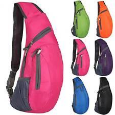 Herren Damen Sport Brusttasche Sling Bag Schultertasche Crossbag Reise Rucksack