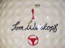 1967 TOM WEISKOP #1 SIGNATURE LOGO GOLF BALL