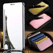 Phone Case Case Mirror Flip Clear View Case Cover Pouch Flip Wallet