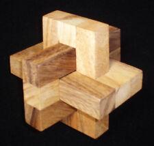 CCO Wood brain teaser puzzle - elegant 3 pc design