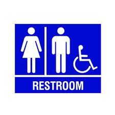 Unisex Handicap Public Restroom Bathroom Sign Business Store Window Wall Decal