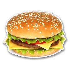 2 X 10 Cm hamburguesa con queso Burger Vinilo Decal Sticker Laptop Patineta alimentos # 6290