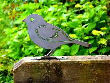 Cut Metal Rusty House Sparrow Bird Garden Home Yard Window Outdoor Art Decor