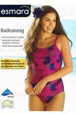 Esmara® Damen Badeanzug Lila Floral 38 40 42 44 Träger Softcups Schwimmanzug NEU