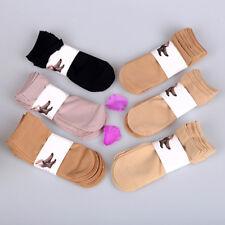 5 Pairs Women Ultra-thin Silky Short Socks Sexy Low Ankle Elastic Nylon Antiskid