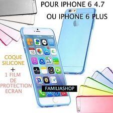 Housse étui pochette coque silicone gel iphone 6 4.7 ou 5.5 Plus + film