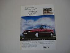 advertising Pubblicità 1992 OPEL ASTRA