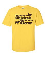 Brown Chicken Brown Cow Porn Music Atkins Retro Hip Funny Men's Tee Shirt 760