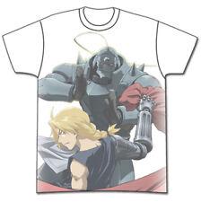 Fullmetal Alchemist Ed and Al White T-Shirt Anime Licensed NEW