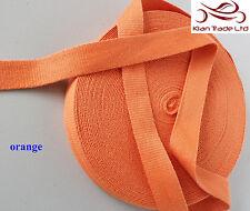 Couleur orange suprb qualité 25mm coton sangle bande souple ceinture bracelet en tissu-mkh