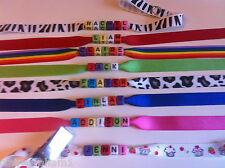 Personnalisé Taggy Ruban Clip/mannequin Saver Bracelet Cadeau Souvenir