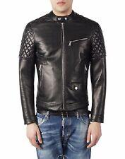★Giacca Giubbotto Uomo in di PELLE 100% Men Leather Jacket Veste Homme Cuir Y4