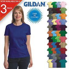 3 PACK-Gildan Ladies Ultra Cotton Blank T-Shirt Womens Tee XS thru 3X