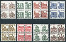Bund 454 - 461 postfrisch Viererblöcke VB BRD Bauten I 1964 MNH