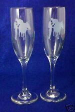 Personalized Western Horse Wedding Toasting Glasses Flutes NEW Engraved FREE*