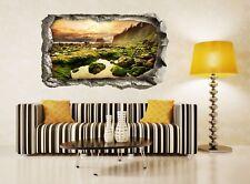 3D Dusk Stones Cliff 52 Wall Murals Wall Stickers Decal breakthrough AJ WALL CA