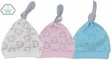 Baby Mütze Teddy-Print in 3 Farben Babymütze Geschenk Taufe Geburt Säugling