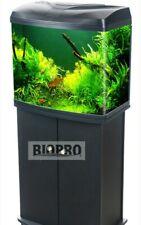 BIOPRO Aquarium Fish Tank+Cabinet Option 85L Glass LED Black Pump/Filter B-260HL