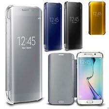 Etui Housse Coque Flip cover Miroir pour Samsung Galaxy S6 Edge