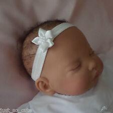 Baby Headband Hair band Ivory Flower Christening Baptism Wedding Party