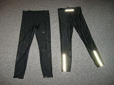 NIKE Men's  Specific Fit Stay Warm Black DRI-FIT Running Tight,74%poystr26%Spanx
