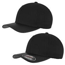 FLEXFIT CARBONE & CUIR IMITATION PEAK CAP 6277 Signe Baseball Bonnet