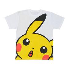 Cute Pokemon Pikachu Big Face Head Starters Nintendo Fun Unisex Tee Neck T-Shirt