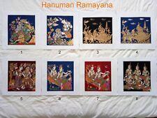 Art Silk Screen Picture Wall Home Decor Handmade Hanuman Ramayana #13