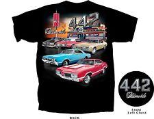Oldsmobile Olds Cutlass 442 Diner Men's T-Shirt~Black~1966 1968 1970 1972