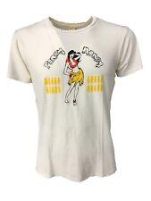 SPORTSWEAR t - shirt uomo mezza manica bianca con usure cotone MADE IN USA