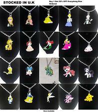 Disney Cartoon Jewellery My little Pony Snow White Bambi Frozen Pendant Necklace