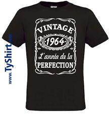 Tee Shirt Vintage 1964 Anniversaire style Whisky   S M L XL XXL XXXL