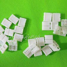 Solderless Clip-on Coupler Connector 2-4pin RGB 8-10mm 3528 5050 LED Strip Light
