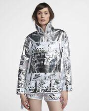 Nike Abbigliamento Sportivo Metallizzato Donna Giacca