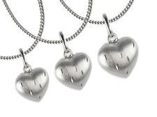 925 ECHT SILBER ❤ Herz Anhänger diamantiert  in 3 Größen wählbar Kette optional