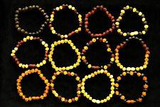 15 COLORS RAW Baltic Amber Teething Bracelet Anklet Baby Adult BQ SAFE 11-26cm