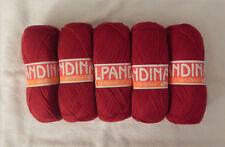 Blend Alpaca Knitting Yarn Wool 5 Skeins 500g RED