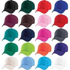 Bambini Ragazzi 100% COTONE ORIGINALE 5 INSERTO tinta unita Cappello da  baseball 0eb3589363b1