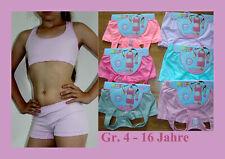 Ouno Unterwäsche SET Bustier + Boxershorts Top Panty 2 Teile Mikrofaser Mädchen