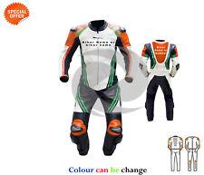 perforado de una sola pieza naranja MOTO Funda Carreras Moto GP Cuero MARCHAS