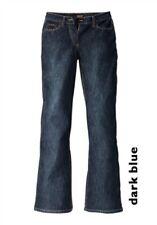 H.I.S Jeans Lina NEU Kurz-Gr.17-18 Damen Denim Bootcut Dark Blue Hose Stretch