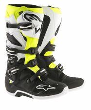 Alpinestars Tech7 MX Stiefel schwarz weiss gelb
