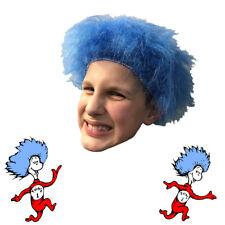 chat dans le chapeau déguisement OBJET 1 2 Blue PERRUQUE ADULTE ENFANT Dr Seuss