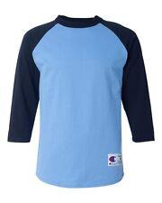 Champion Mens 3/4 Sleeve Raglan Baseball T-Shirt T137 S-3XL
