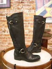 Naturalizer Jersey Negro Granulado Botas de piel de equitación