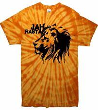JAH RASTA TIE DYE T-SHIRT - Reggae Rastafarian Bob Marley - Colour Choice
